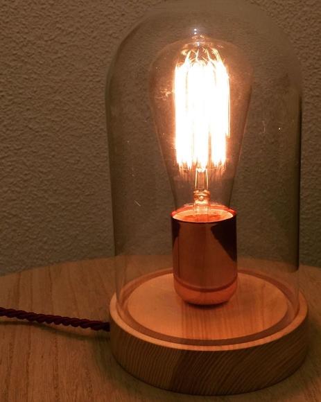 Lámpara cúpula de cristal - Filamento de carbono