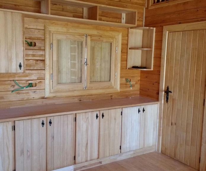 Interior Cabaña de Madera