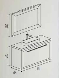 Mueble baño Kyrya Cuadro3 C2