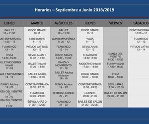 Horarios y precios Curso 2018/19