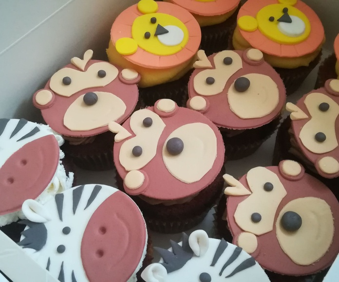 cupcake safari animales