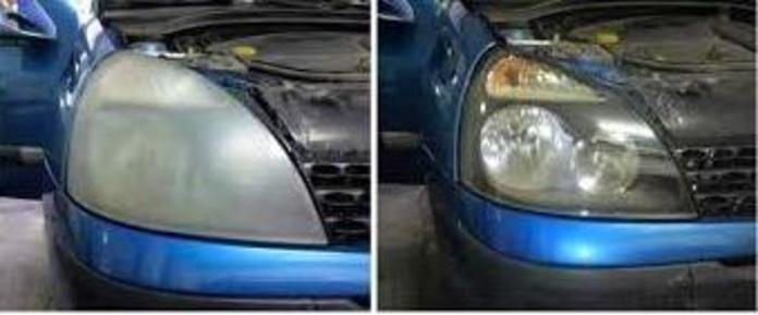 Pulido de faros de coches