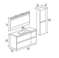 Mueble baño Kyrya Complet C13