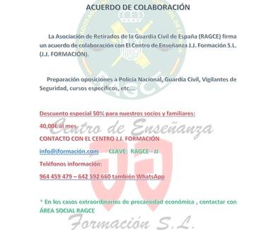 Acuerdo de colaboración Asociación de Retirados de la Guardia Civil de España (RAGCE)