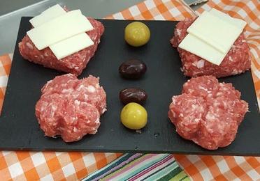 Hamburguesas de carne y vegetales