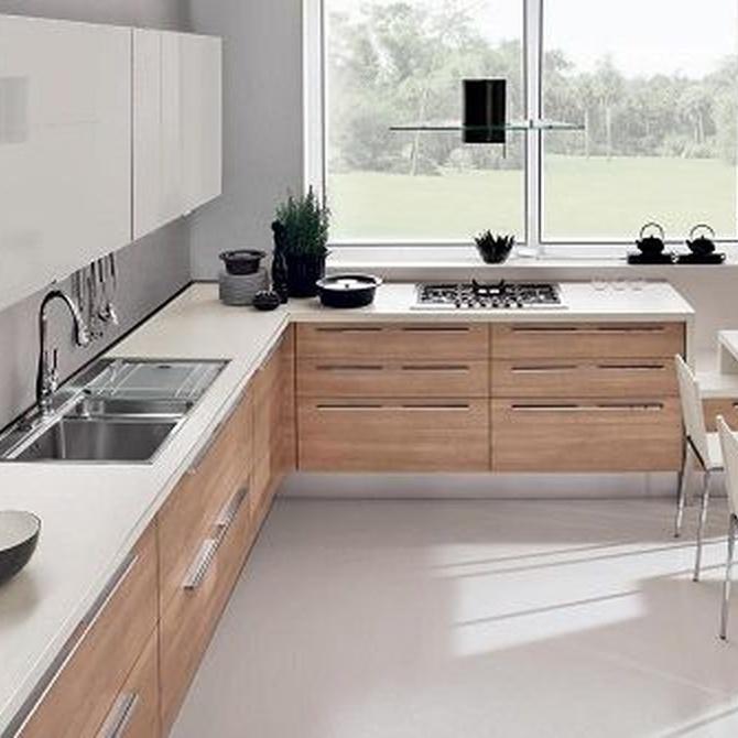 ¿Cuáles son los materiales más utilizados en las cocinas actuales?