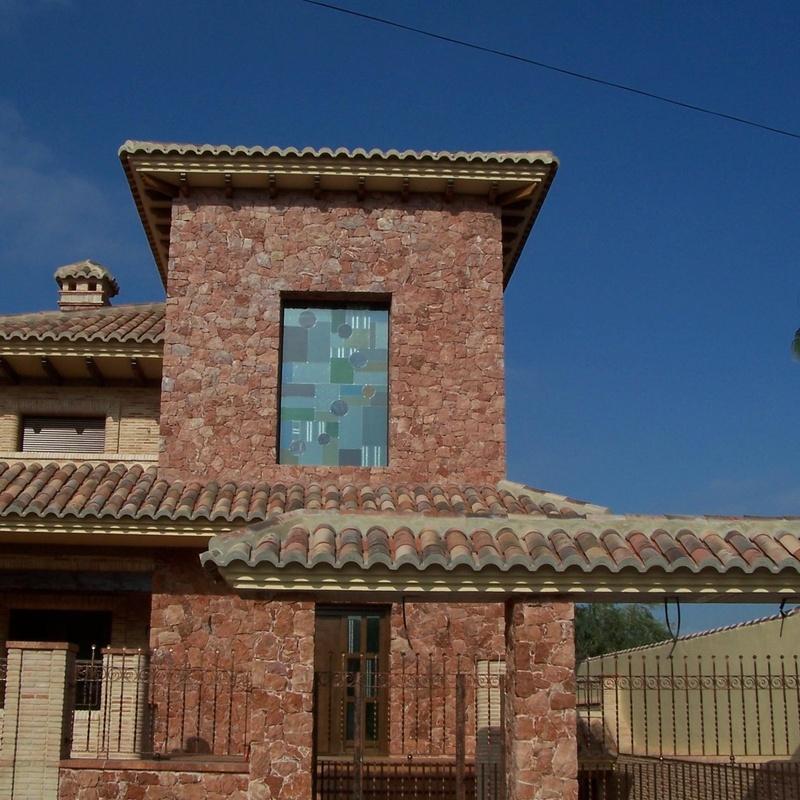 Fachada en marmol Rojo Alicante