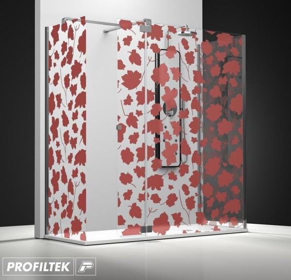 Mampara de baño Profiltek walk-in serie Belus modelo BS-241 decoración Forever
