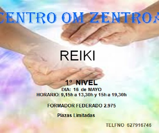 Curso de primer nivel de Reiki, en Eibar,  en MAYO