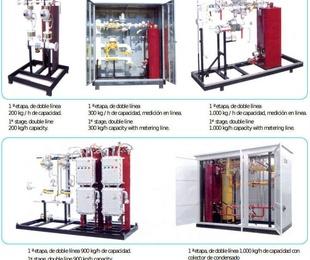 Equipos modulares de vaporización  y de regulación
