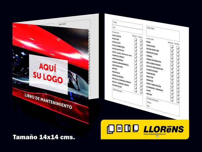 Libro de Mantenimiento: Productos y Servicios de Imprenta Llorens