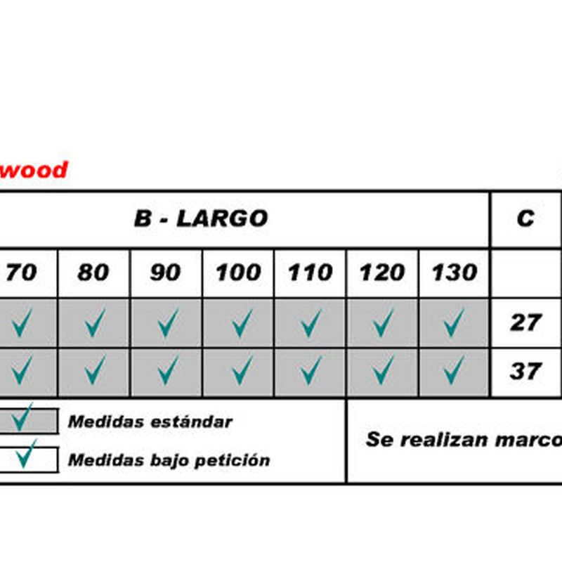 Flexa Wood (medidas hueco)