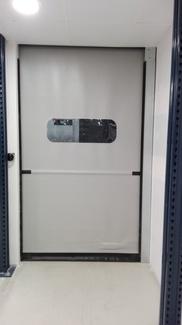 Puerta eléctrica rápida de lona enrollable