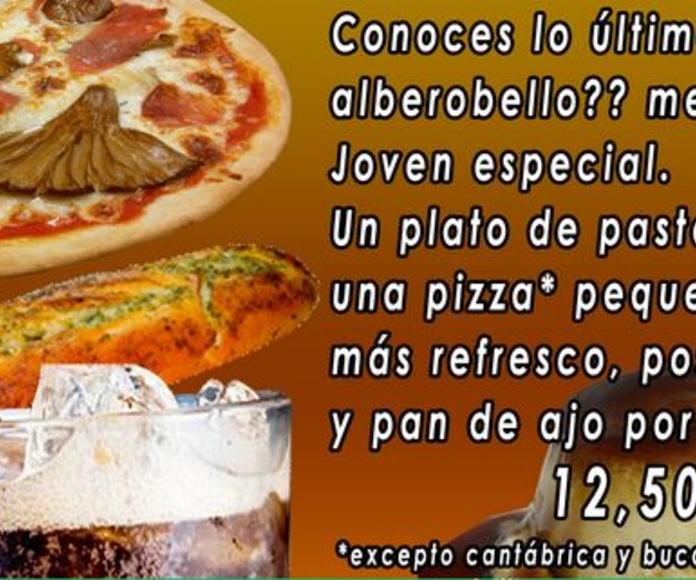 Menú joven especial: Nuestra carta de Alberobello
