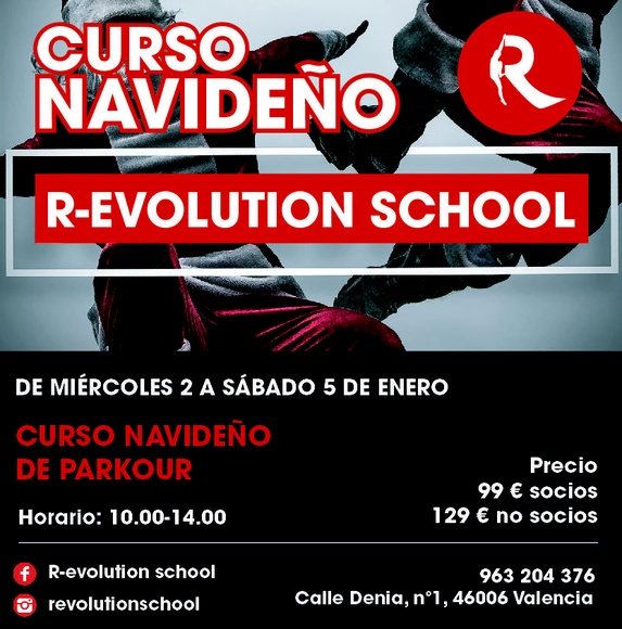 Curso Navideño de Parkour en R-evolution School, Valencia, Ruzafa