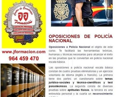 OPOSICIONES POLICIA NACIONAL - ABIERTA MATRICULA TODO EL AÑO