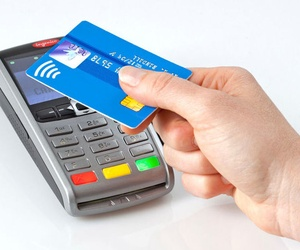 Payment by credit card.