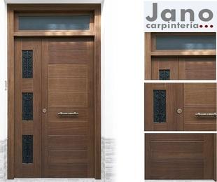 Puertas de entrada para exterior en madera maciza