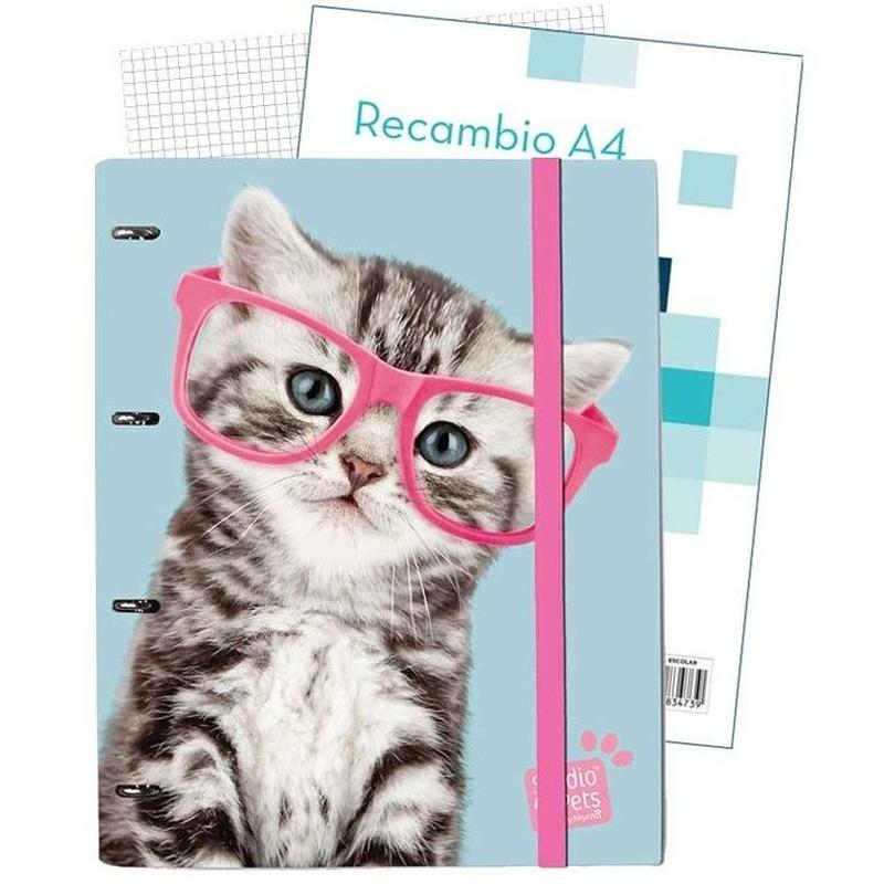Carpeta 4 anillas Studio Pets Cat Camera 8436565225008