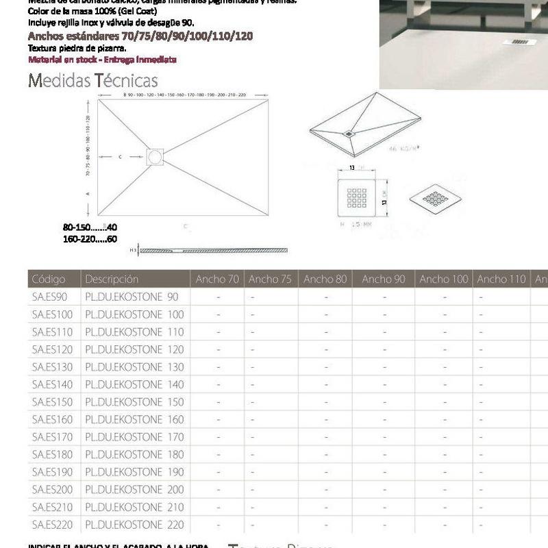 Ekostone Plato Ducha: Productos de Materiales de Construcción Camino