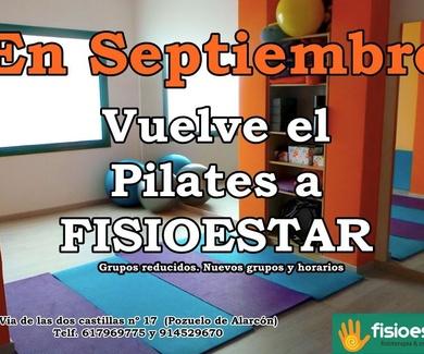 En Septiembre vuelve el Pilates a FISIOESTAR
