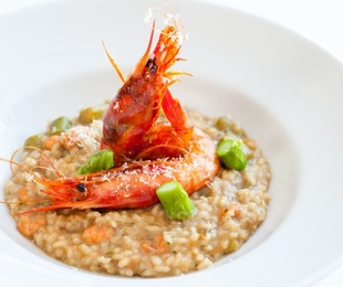 Los beneficios del arroz y el marisco