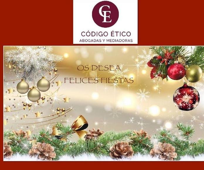 Código Ético Abogadas os desea Felices Fiestas