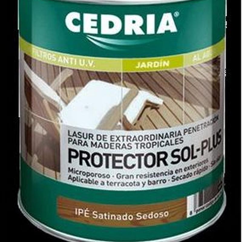 Protector Sol Plus CEDRIA en almacén de pinturas en ciudad lineal.