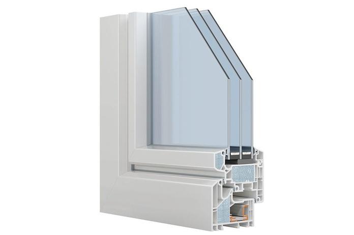 Ventana de PVC HX 95 Plus triple vidrio