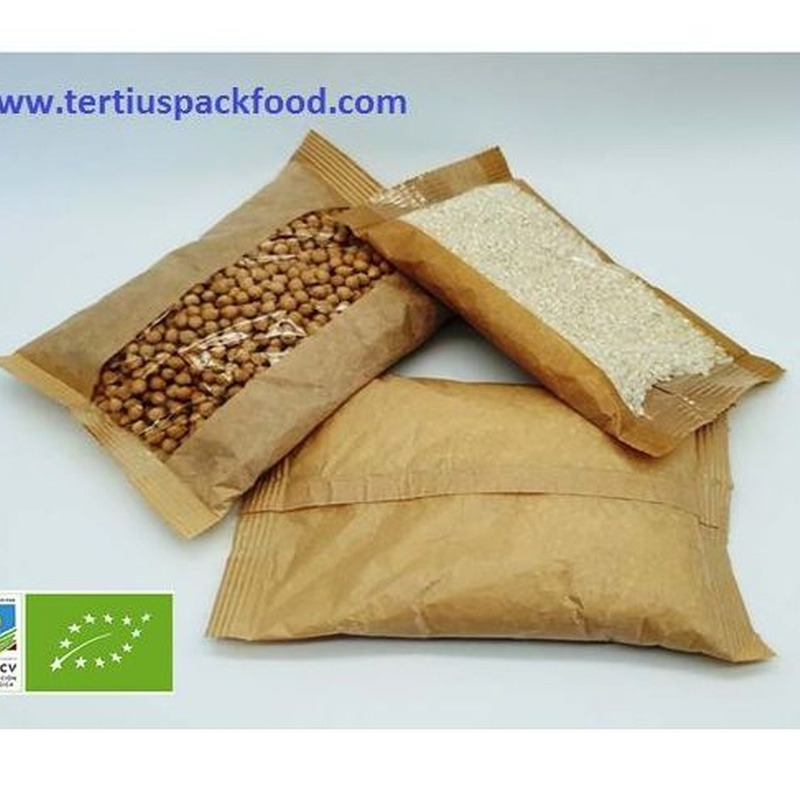 Envasado bolsa conformada  prolipropileno y papel con atmósfera protectora: NUESTROS  ENVASADOS de Envasados de Alimentos Bio y Gourmet, S.L