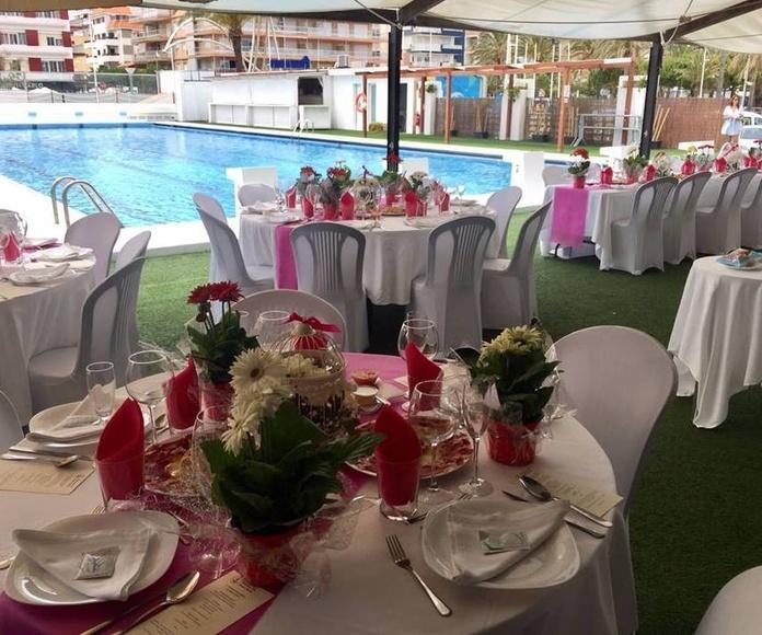 Bodas, bautizos y comuniones: Nuestra carta y servicios de Restaurante Club Náutico Gandía