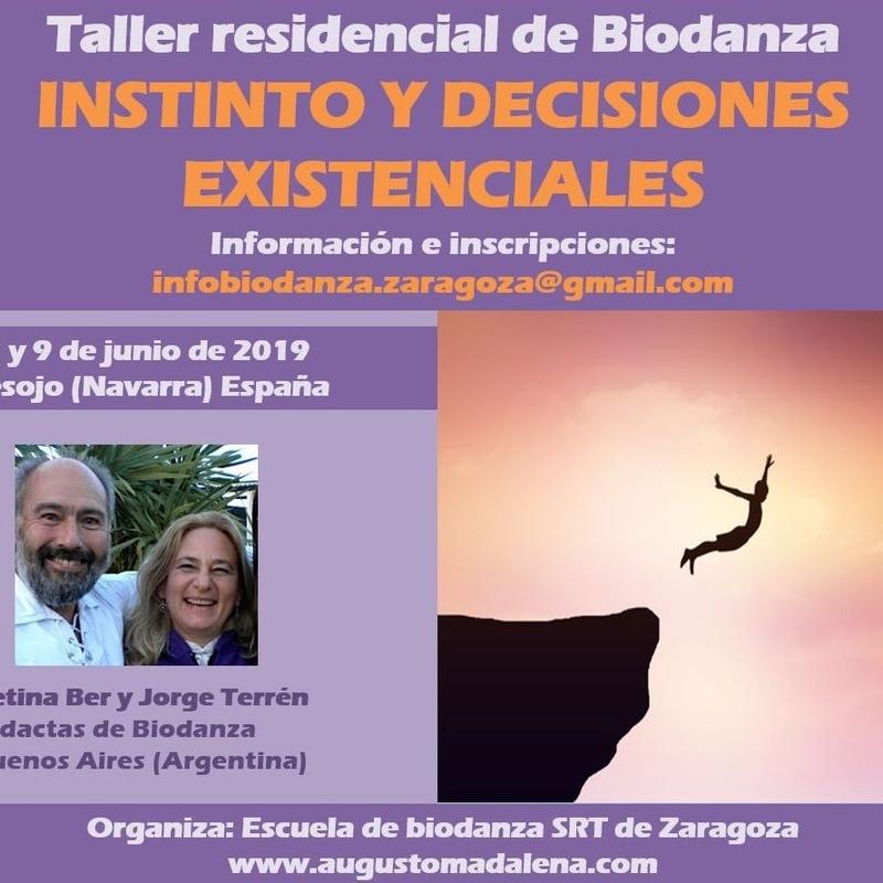 Instinto y Decisiones Existenciales. Taller de Biodanza con Betina Ber y Jorge Terrén. Escuela de Biodanza de Zaragoza