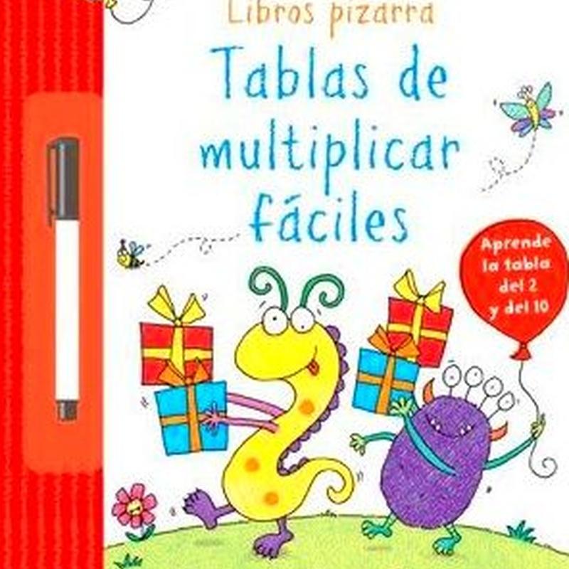 Tablas de multiplicar fáciles. Libros pizarra. USBORNE
