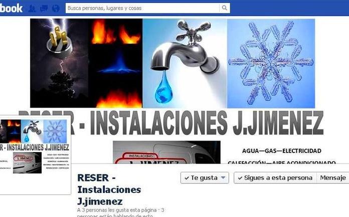 Facebook: Productos y servicios  de Reser - Instalaciones Jiménez