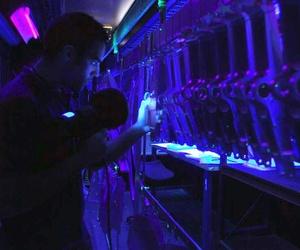 Inspección con luz ultravioleta