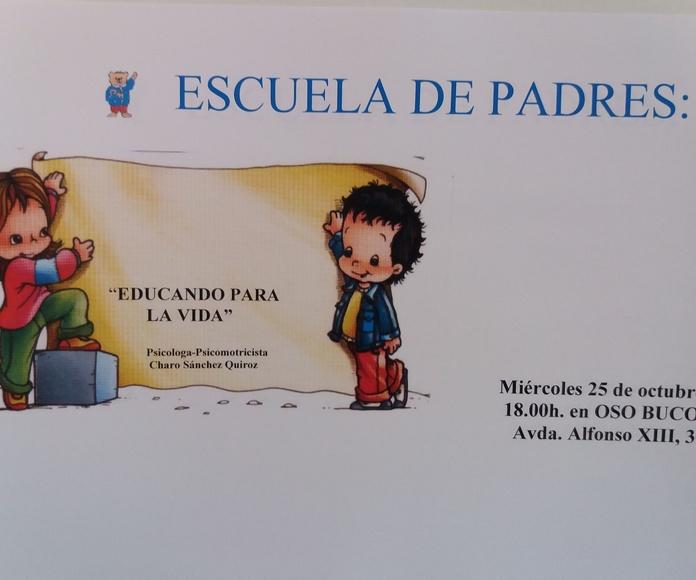 ESCUELA DE PADRES 25 DE OCTUBRE 18.00H