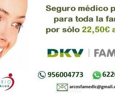 Seguro médico privado para toda la familia por 22.50 €