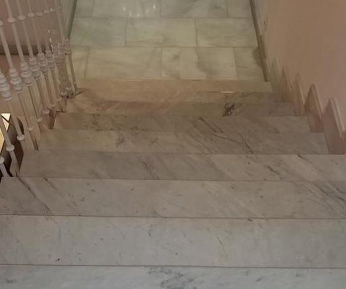 Pulido y abrillantado de escaleras