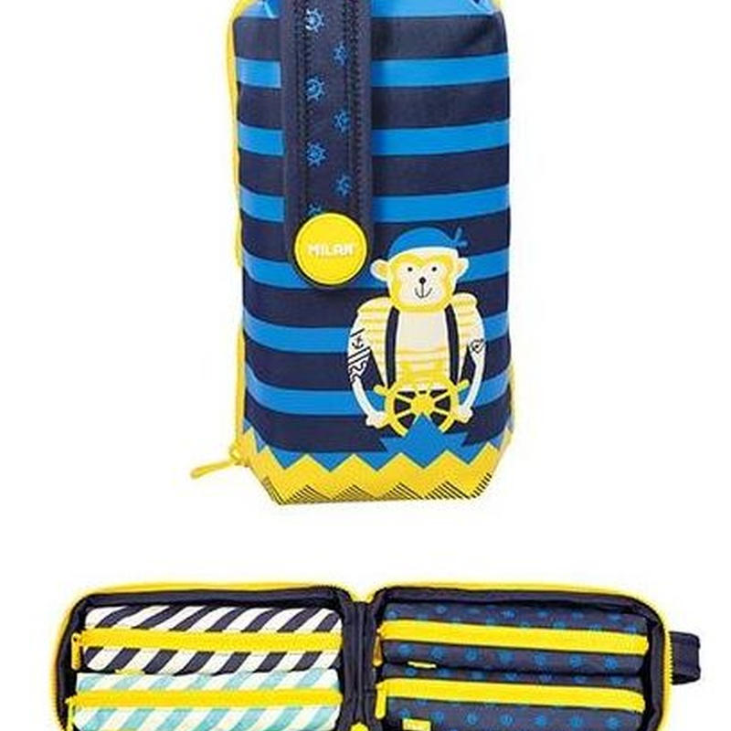 Estuche Pinturas Milán  Anchor club 2 azul. Handly Multipencilcase. 8411574067948