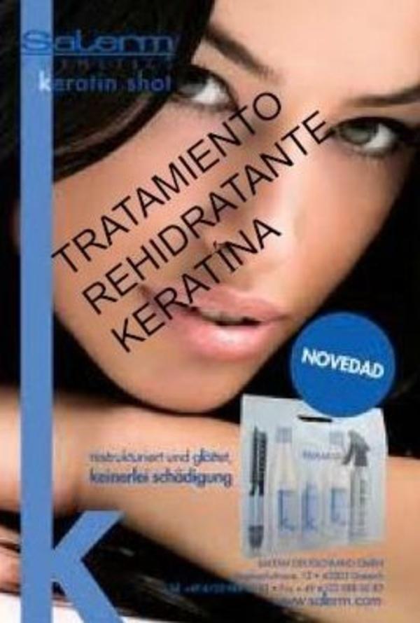Tratamiento rehidratante keratina Paseo de Extremadura Peluquería
