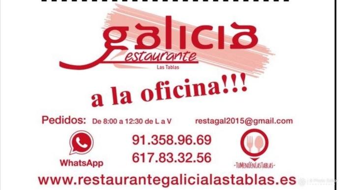 MENÚS PARA LLEVAR: Carta de Restaurante Galicia Las Tablas