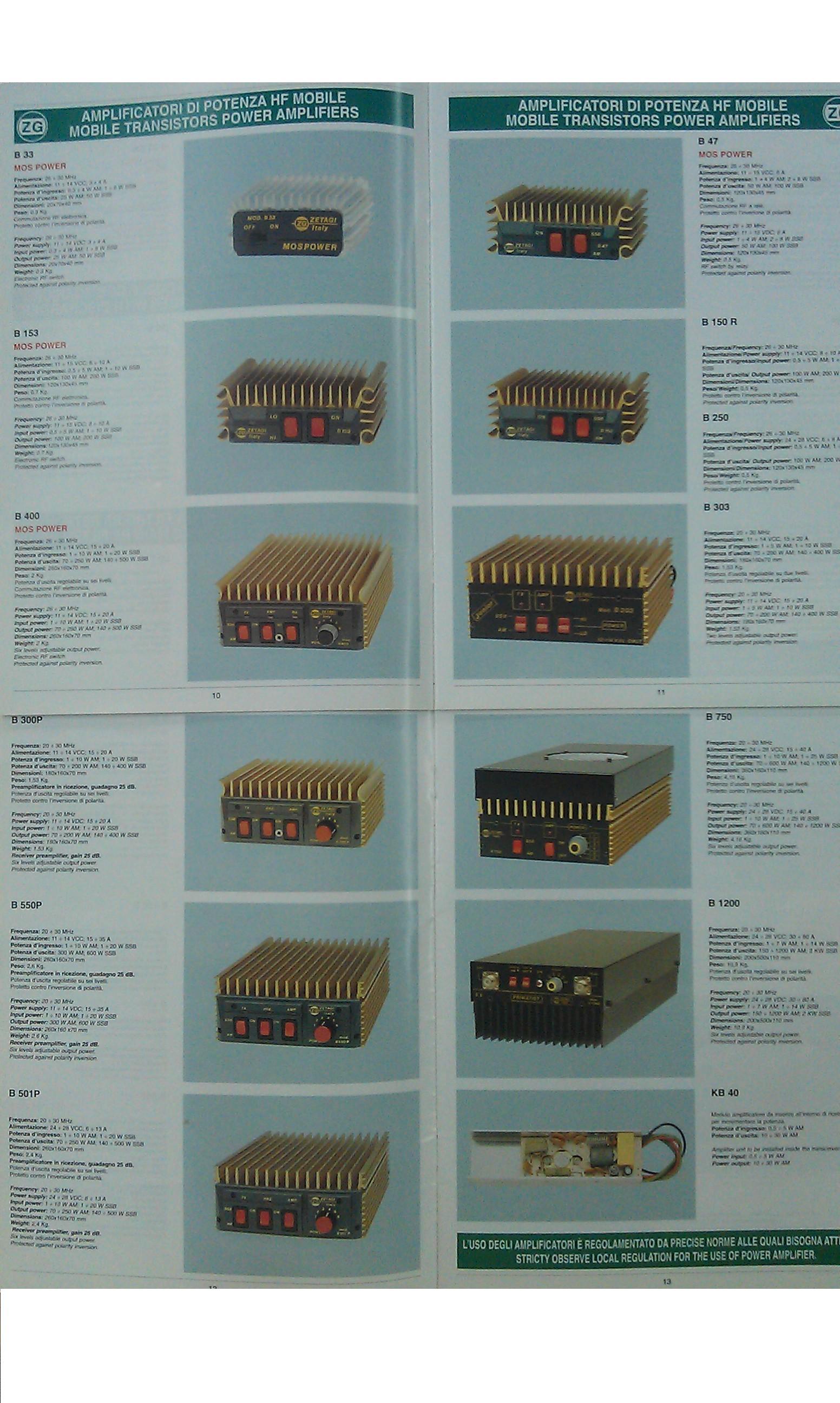 ZETAGI Amplificadores: Catálogo de Olanni Electronics