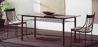 Mesa París: Catálogo de muebles de forja de Forja Manuel Jiménez