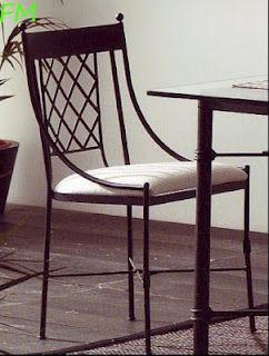 Silla París: Catálogo de muebles de forja de Forja Manuel Jiménez