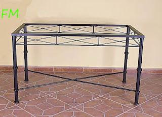 Mesa Mónaco: Catálogo de muebles de forja de Forja Manuel Jiménez