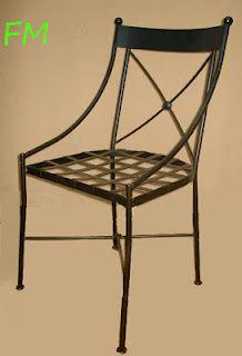 Silla Mónaco: Catálogo de muebles de forja de Forja Manuel Jiménez