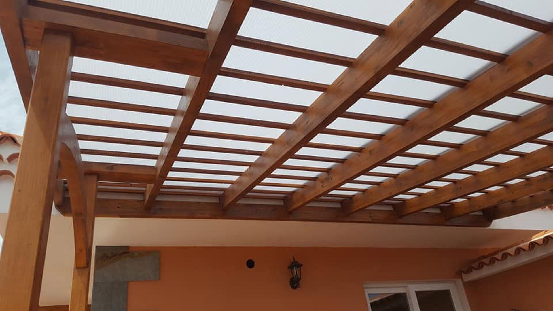 Estructura de madera en Santa Cruz de Tenerife