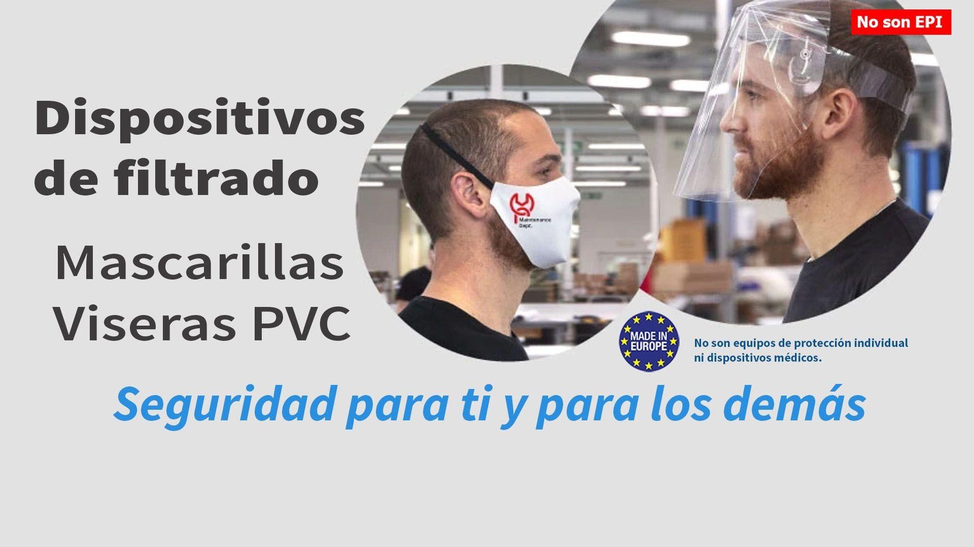 Mascarillas y Visera de PVC: otra herramienta para luchar contra el Coronavirus