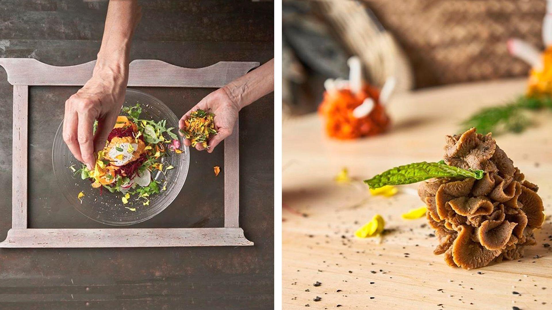 Restaurante vegetariano y vegano