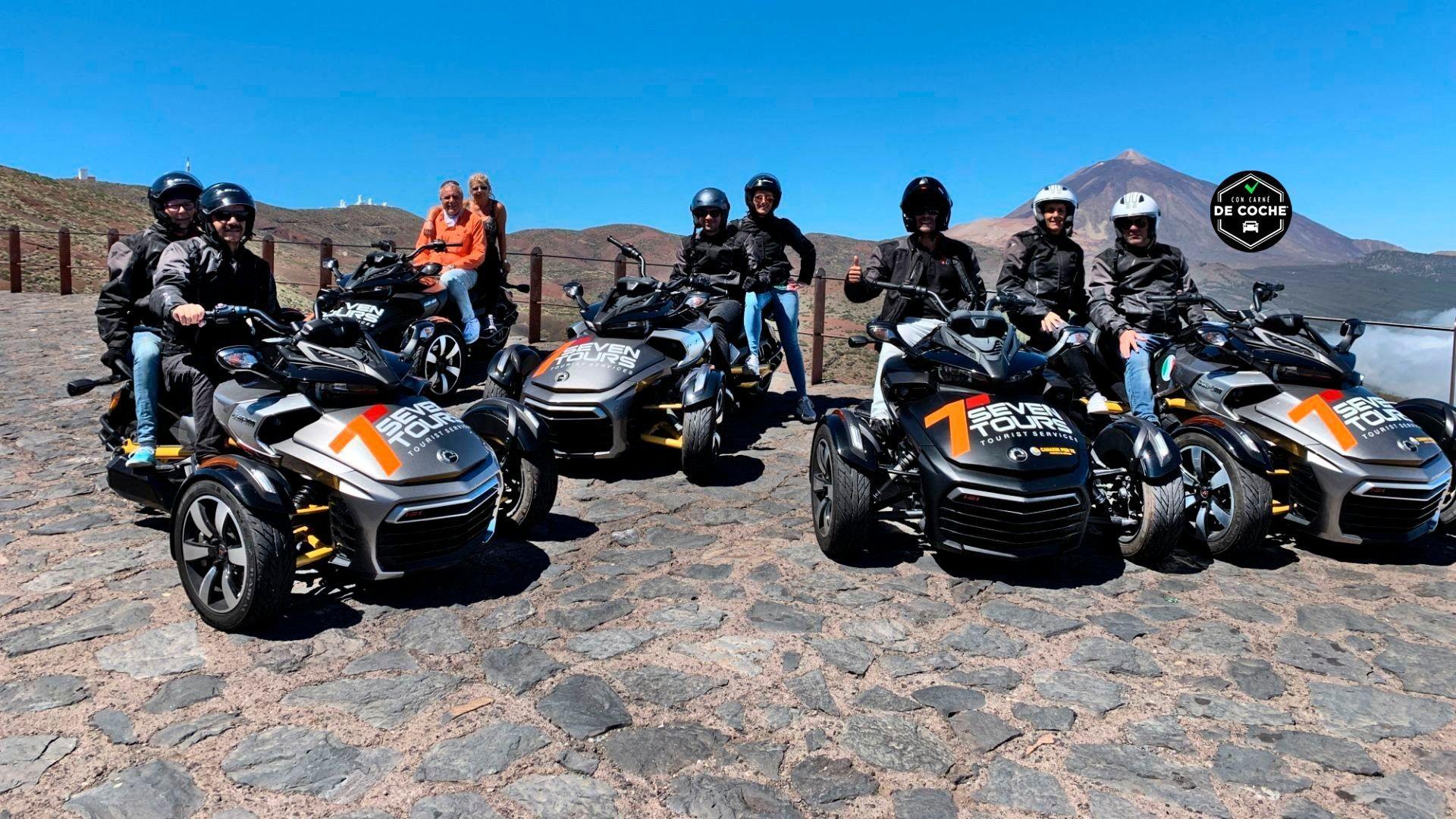 Excursiones en motos de tres ruedas en Tenerife